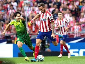 半场:马竞1-2埃瓦尔,科斯塔错失良机后助攻菲利克斯破门