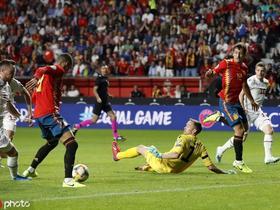 半场:西班牙1-0法罗群岛,罗德里戈破门,蒂亚戈凌空抽射