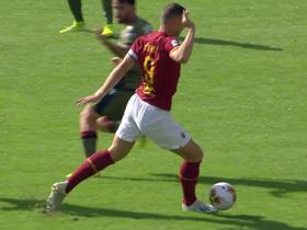 半场战报:罗马1-1卡利亚里,佩德罗点射,切皮泰利乌龙