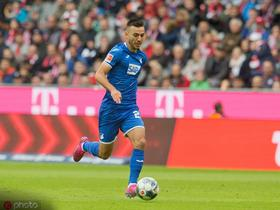 对阵拜仁梅开二度,霍村前锋阿达米扬当选德甲本轮最佳球员