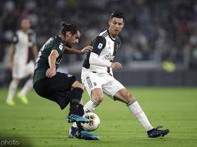 半场战报:尤文1-1博洛尼亚,C罗破门,客队达尼洛抽射扳平
