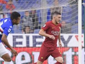 半场战报:罗马0-0桑普多利亚,克里斯坦特、卡利尼奇伤退
